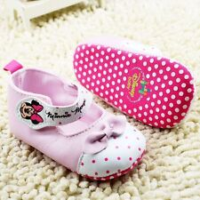 Adorable Baby Girls ~ Minnie Mouse ~ White & Pink  Disney Summer Mary Jane Shoes