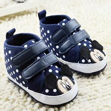 Cute Baby Boy Blue Mickey Mouse Disney Boots Shoes Pre Walkers