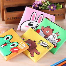 New Faux Leather Coin Purse Card Wallet Clutch Zipper Small Bag Kid's Gift p7