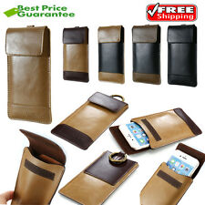 Leather Wallet Carry Pouch Sleeve Card Case Belt Clip Holster For iPhone 6 6S