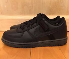 NIKE VANDAL LOW ALL BLACK LEATHER CASUAL SHOES KIDS PS SZ 11- 3 C  * 314676-001