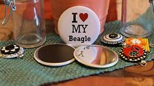 I LOVE MY... - Pocket Mirror, Magnet or Pin Back - 2.25 - 11 Designs!!