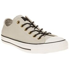 New Mens Converse Natural All Star Ox Suede Trainers Plimsolls Lace Up