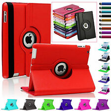 Leather Rotating 360 Degree Folio Book Case Smart Stand Cover For All Apple iPad