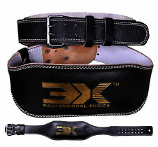 """Weight Lifting Leather Belt Gym Training Power Workout Back Lumbar Support 4"""""""