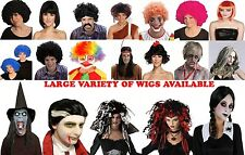 WOMEN MEN UNISEX WIGS FANCY DRESS WIGS HALLOWEEN WIGS AFRO CLOWN MERMAID WIG LOT