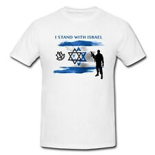 I Stand With Israel T Shirt army flag Support IDF Tee short sleeve men dry fit