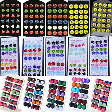 NT Wholesale lots Bulk 6/18/20 Pairs Mix Styles Silver Plated Ear Studs Earrings