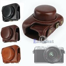 3 Colors PU Leather Camera Case Bag Cover For Panasonic GF8 12-32mm Lens【US】