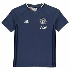 Adidas Manchester United FC T-Shirt Juniors Blue/Navy Football Soccer Top Tee