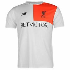 New Balance Liverpool FC Cotton T-Shirt Mens White Football Soccer Top Tee