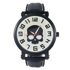 Fashion Unisex Kids Boys Girls Harajuku Skull Tide Big Dial Quartz Sports Watch