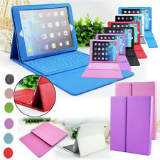2-in-1 PU Leather Cover Case With Wireless Bluetooth Keyboard For Apple iPad 5 6