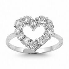 Promise Heart Ring Solid 925 Sterling Silver 1.20CT Russian CZ Valentines Gift