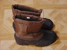 Men's Brown Insulated Winter Snow Boots Size 8, 10