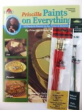 Priscilla Hauser Paints Everything Decorative Painting Book wOpt Brushes U PICK