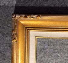 "5"" WIDE Gold Leaf Ornate photo family Oil Painting Wood Picture Frame 607GL"