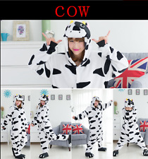 HOT-new Unisex Adult Onesie Kigurumi Pajamas Anime Cosplay Costume Dress cow