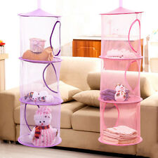 3 Shelf Hanging Storage Net Kids Toy Organizer Bag Bedroom Wall Door Closet PLI