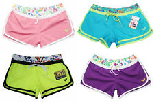 FREE SHIPPING Womens ROXY Swim Trunks Bermudas Shorts Surf Pants Board Shorts
