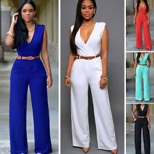 Sexy Women Evening Party V-Neck Sleeveless Jumpsuit Romper Pants Jumper Playsuit