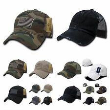Baseball Cap Vintage Army Mesh Hat / US Flag Camo Caps Military Tactical  Hats