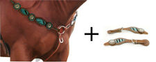 Matching Western Breastplate + Spur Straps Zebra faux fur + jewels horse rider