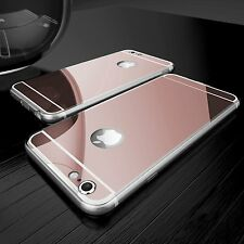 New Acrylic Mirror Rubber Clear Bumper Case Cover for iPhone 7 for iPhone 7 Plus