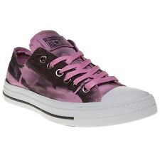 New Womens Converse Pink Multi All Star Ox Canvas Trainers Lace Up
