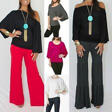 MY FAVORITE TEE DOLMAN ON or OFF SHOULDER TOP Knit Tunic USA MADE 5 Colors S-XL
