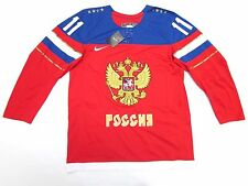 EVGENI MALKIN TEAM RUSSIA NIKE 2014 SOCHI WINTER OLYMPICS MEN ICE HOCKEY JERSEY
