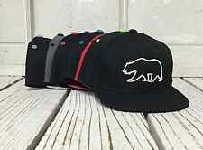 New Cali Bear Outline Flat Bill Kids Youth Age 2-8 y/o Snapback Hat Many Colors