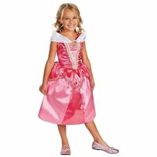 Sleeping Beauty Costume Kids Disney Princess Aurora Halloween Fancy Dress (M,S)