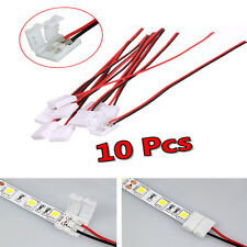 Practical 10Pcs PCB Connector Cable 2 Pin LED Strip Connector 3528/5050 Adapter