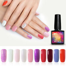 BELLE FILLE 10ml Soak Off Glitter Polish Gel UV LED Lamp Nail Art Manicure Tips