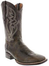 mens brown distressed leather western cowboy boots rodeo riding square