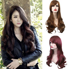 New Women Girl Fashion Long Wavy Curly Hair Cosplay Costume Party Full Wigs  DE