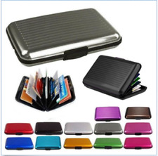 Waterproof Business ID Credit Card Wallet Holder Aluminum Metal Pocket Case DE