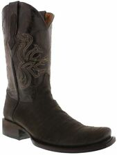 mens brown crocodile belly all real leather western cowboy boots rodeo square
