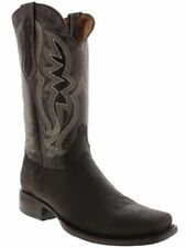 mens brown alligator belly real leather western cowboy boots rodeo square toe