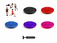 Blue Pink Stability Disc Balance Pad Wobble Cushion Ankle Knee Board WITH PUMP