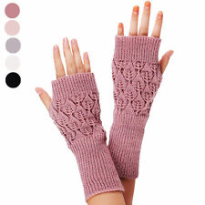 New Unisex Women Ladies Fingerless Gloves Warm Gloves Knitted Winter Warm Winter