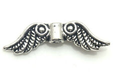 20/200PCS Tibetan silver Craft Angel Wings Jewelry Making Findings Spacers Beads