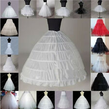 Hot wedding Bridal dress prom petticoat hoops underskirt crinoline regular waist