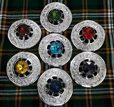 Scottish Kilt Fly Plaid Brooch Various Style/Highland Fly Plaid Brooches Chrome