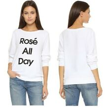 NEW WILDFOX COUTURE ROSE ALL DAY VINTAGE LACE WHITE BBJ SWEATER SWEATSHIRT TOP