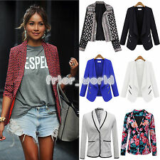 Fashion Womens Career Slim Lapel Casual Business Blazer Suit Jacket Coat Outwear