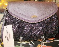 Purple Sequin Juicy Couture Wristlet clutch NWT