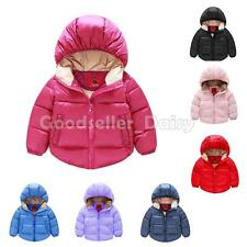 Winter Kid Boys Girls Padded Coats Snowsuit Hooded Warm Quilted Tops Coat Jacket