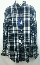 $165 NWT Polo Ralph Lauren Men's Black White Plaid Check Long Sleeve Linen Shirt